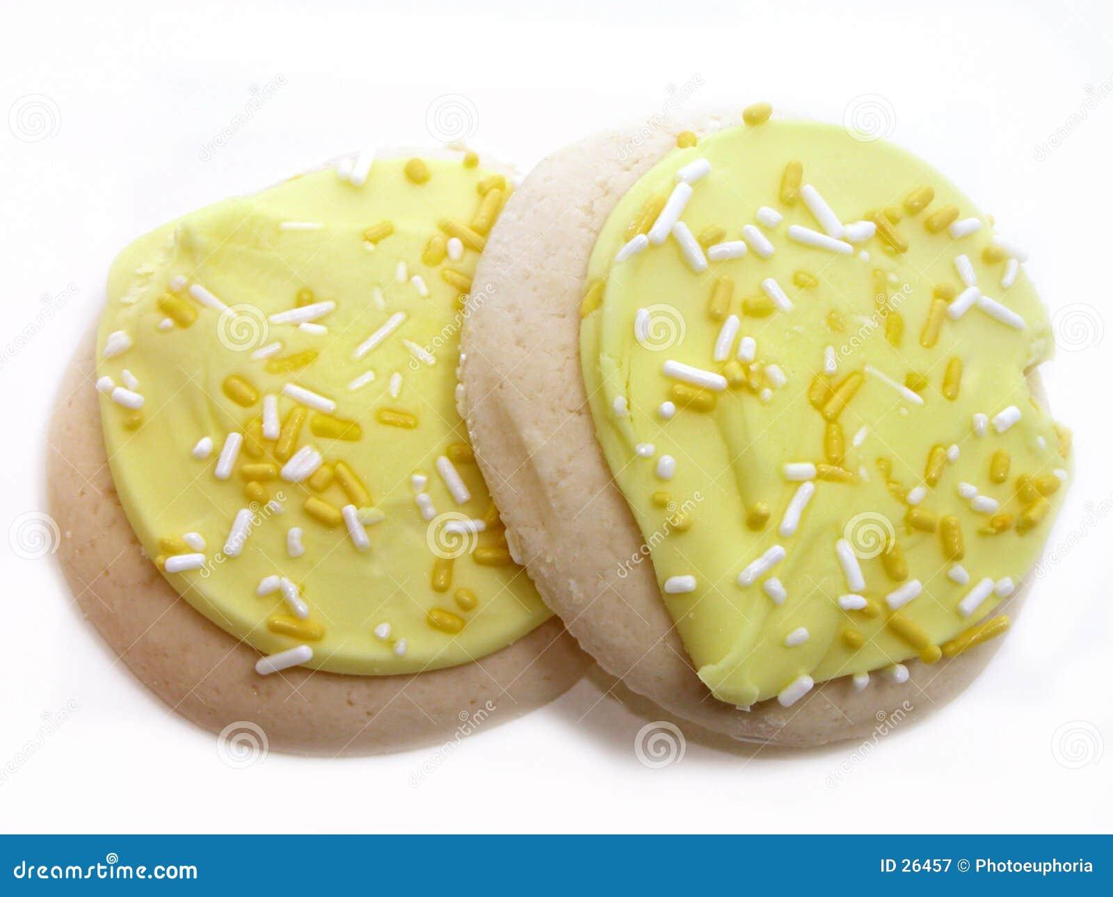 παγωμένη μπισκότα ζάχαρη λεμονιών