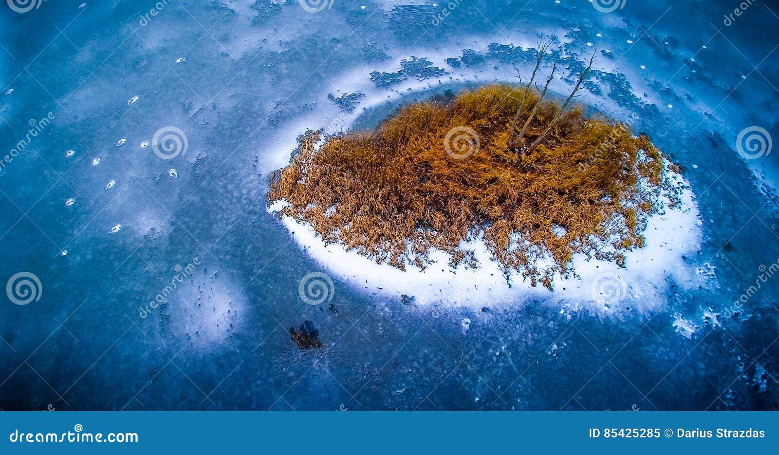παγωμένη ταπετσαρία κεραία λιμνών
