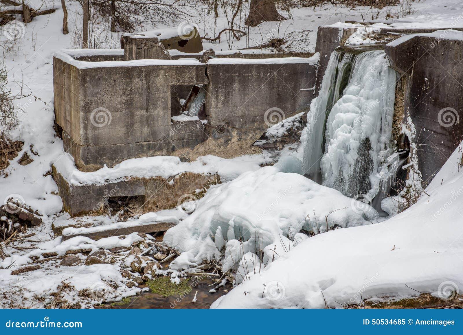 Παγωμένος καταρράκτης στο Ουισκόνσιν