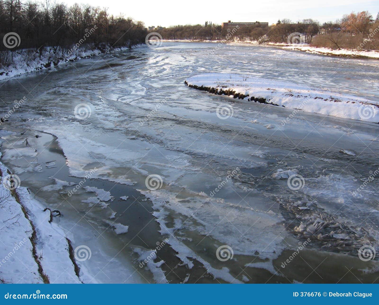παγωμένος ποταμός