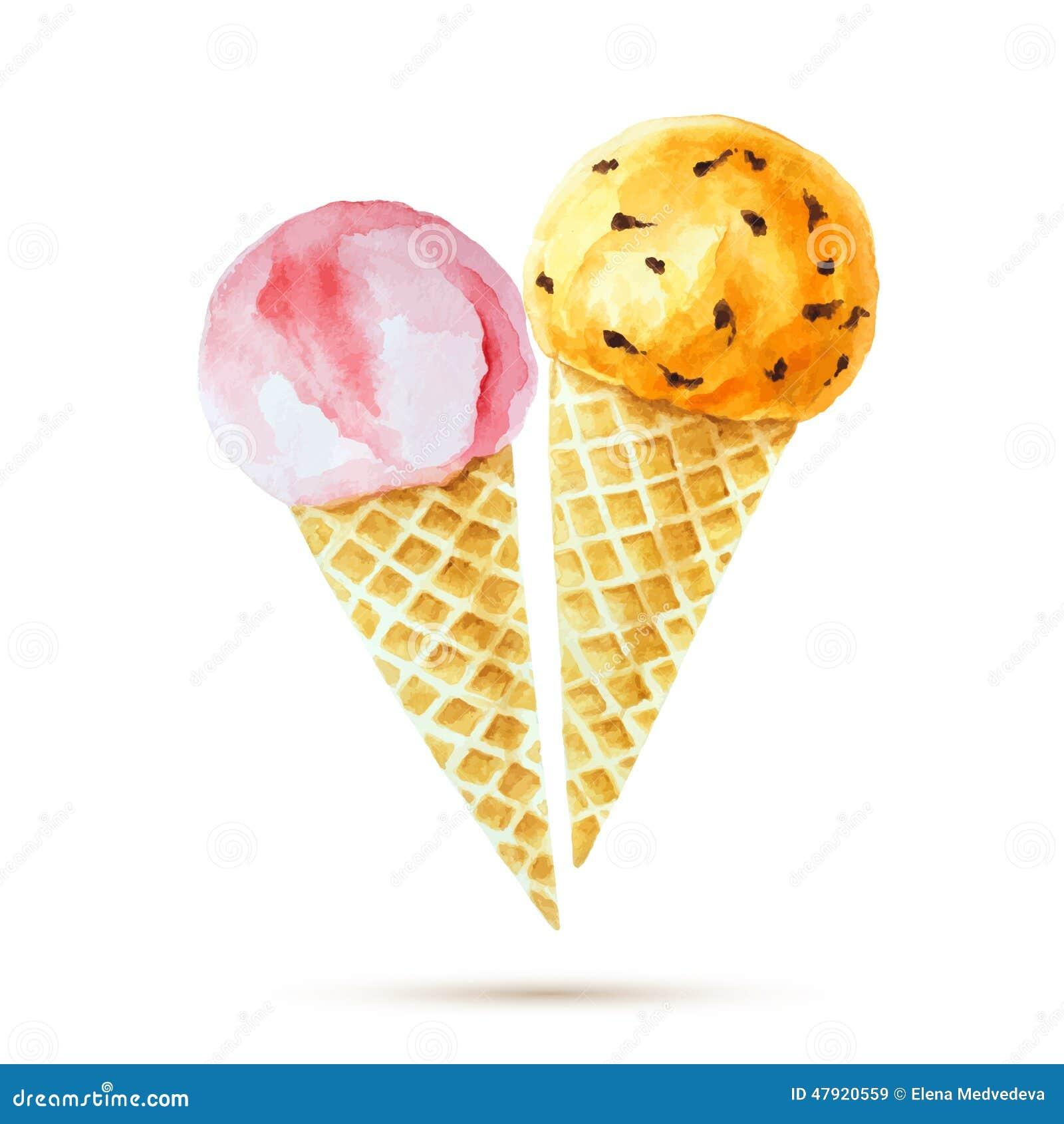 παγωτό πάγου κρέμας κώνων σοκολάτας ανασκόπησης πέρα από το λευκό βανίλιας φραουλών φυστικιών