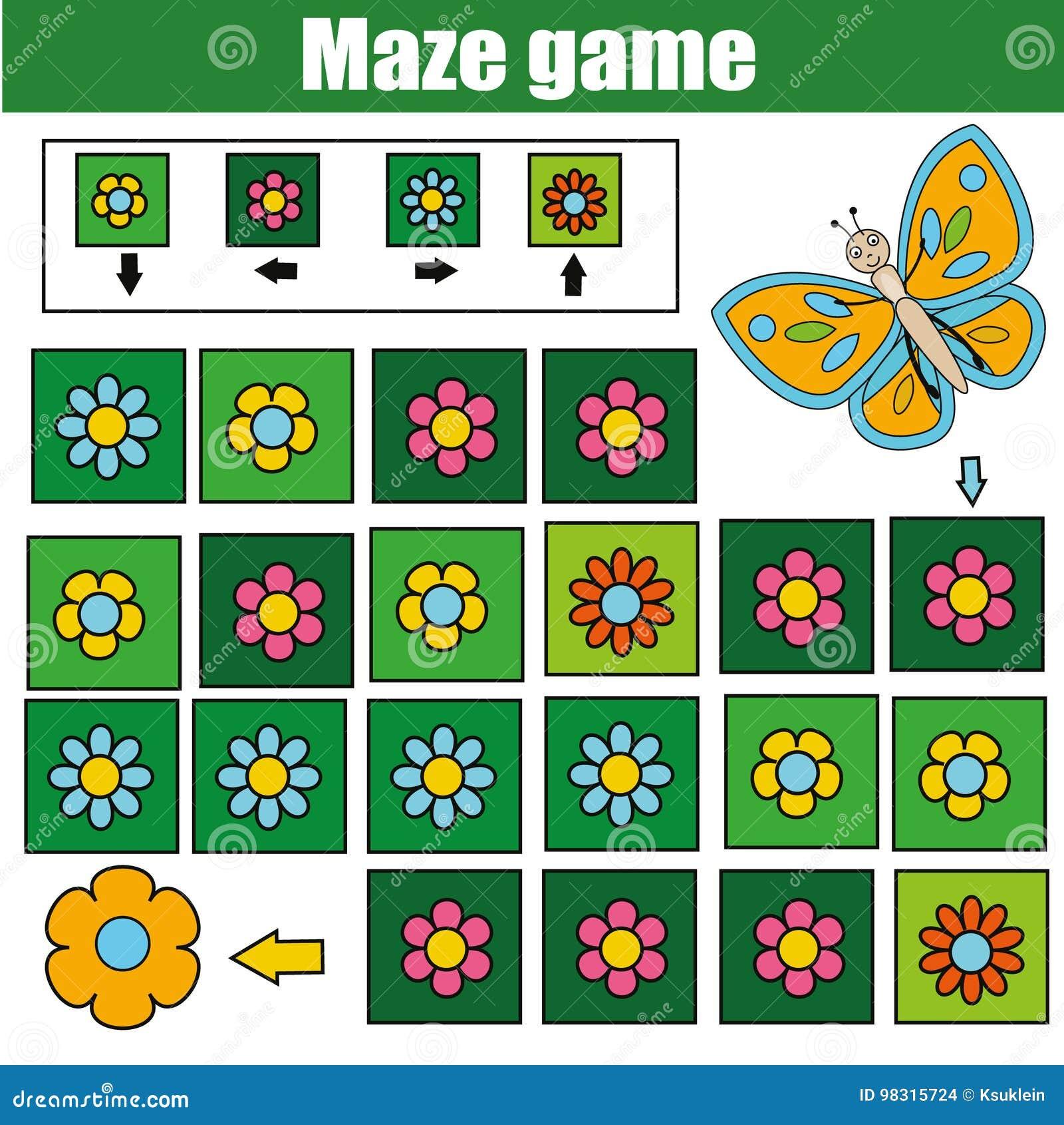 Παιχνίδι λαβυρίνθου, θέμα ζώων Φύλλο δραστηριότητας παιδιών Λαβύρινθος λογικής με τη ναυσιπλοΐα κώδικα