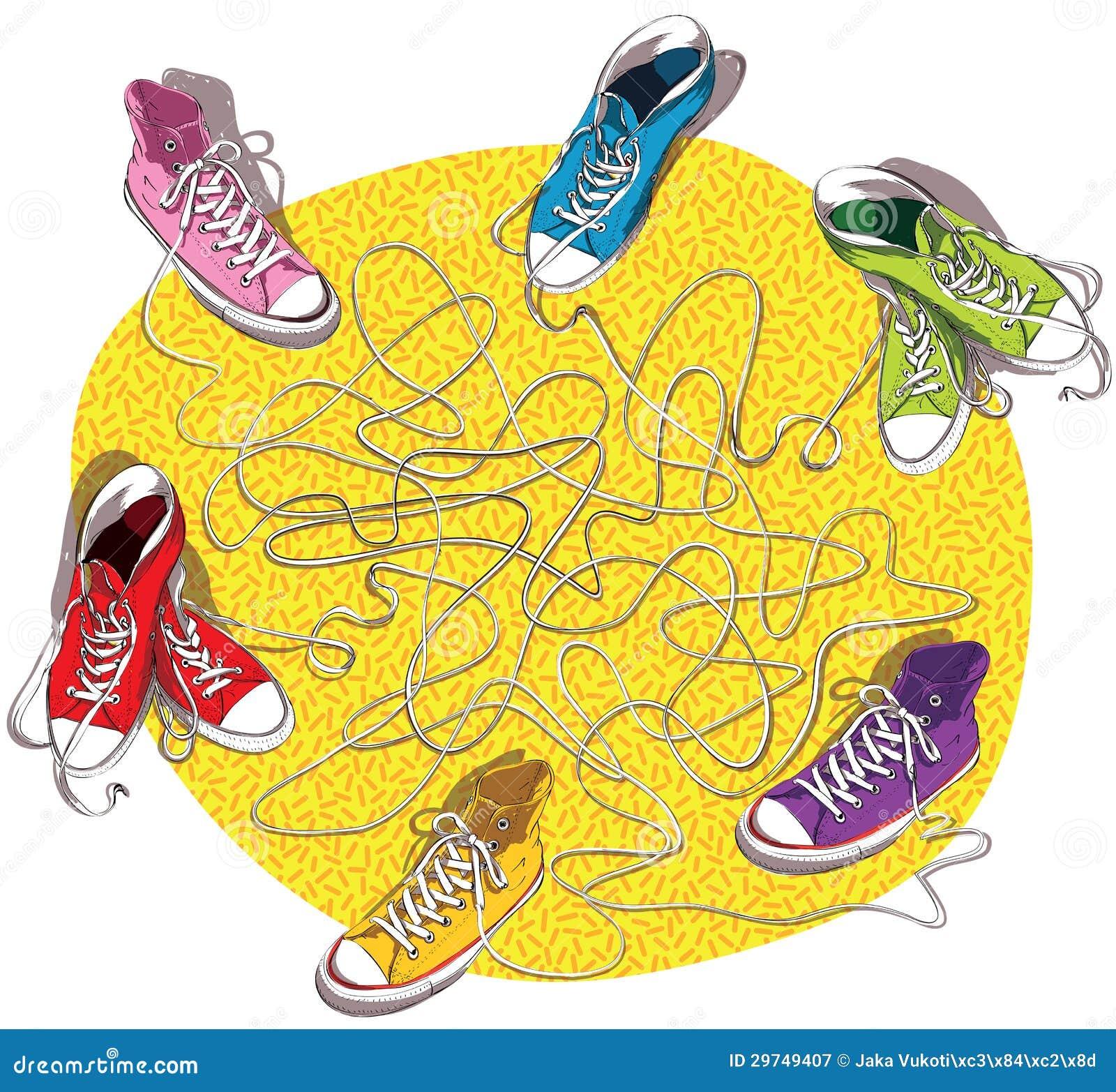 Παιχνίδι λαβυρίνθου πάνινων παπουτσιών