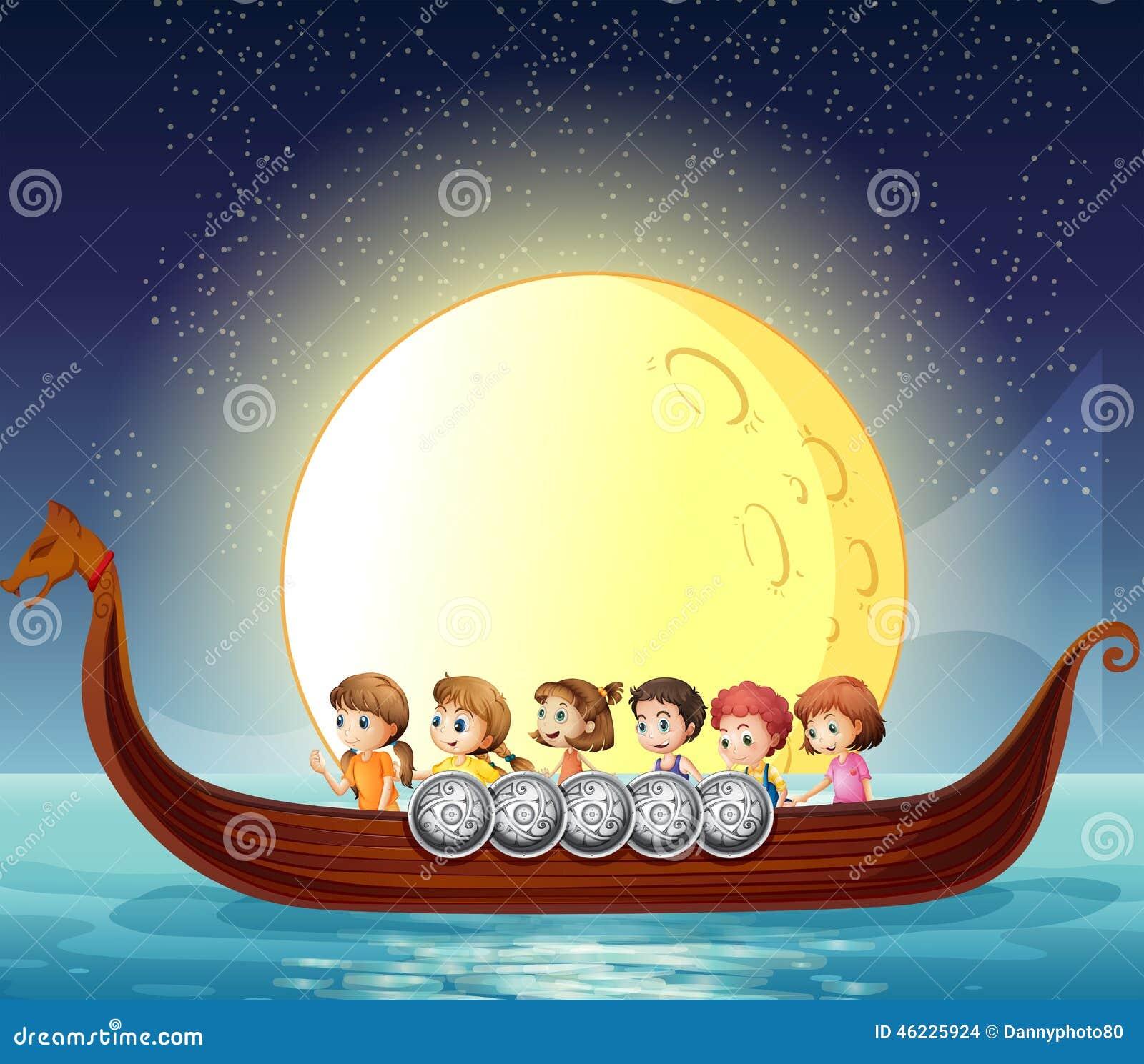 Παιδιά και βάρκα