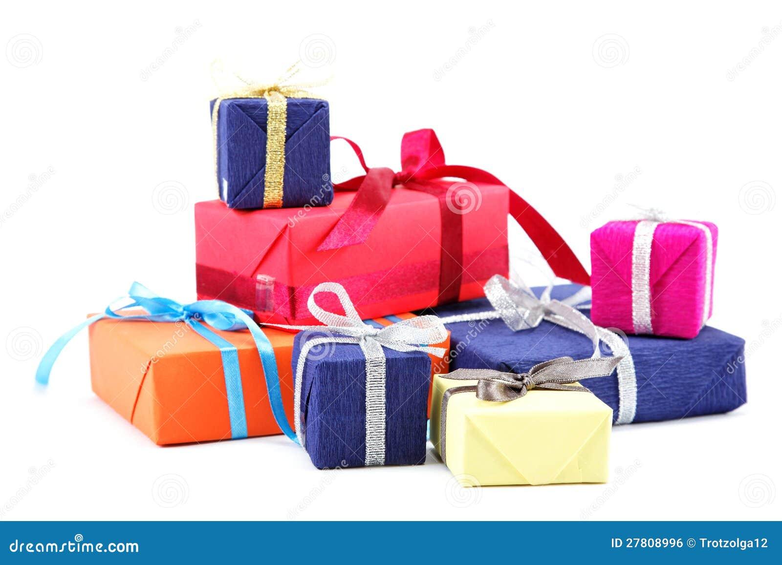 Πακέτα δώρων. στοκ εικόνες. εικόνα από childhood, boxcar - 27808996