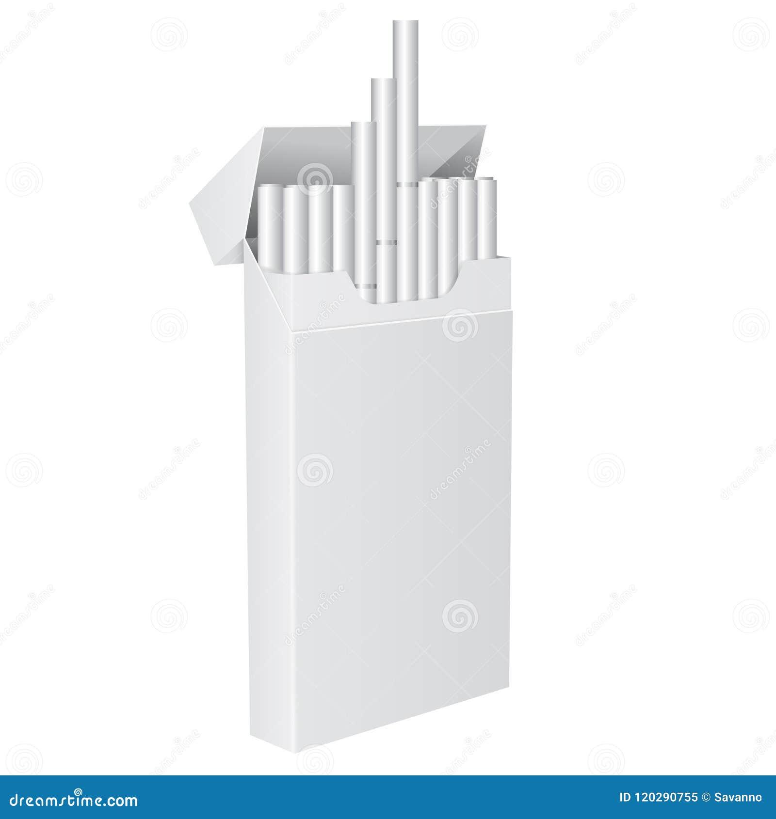 Πακέτο των τσιγάρων Κενό ανοικτό πακέτο