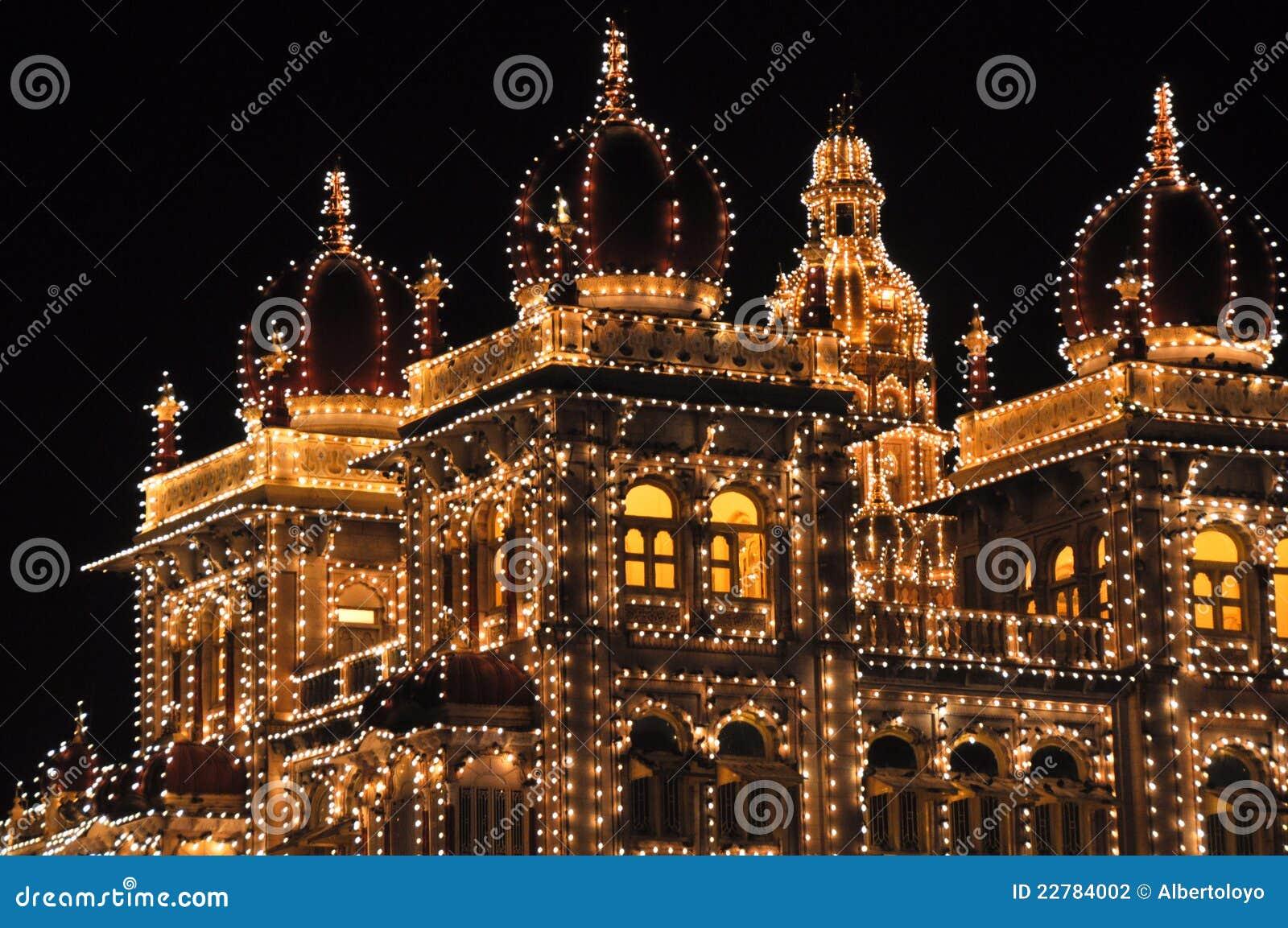 παλάτι νύχτας του Mysore