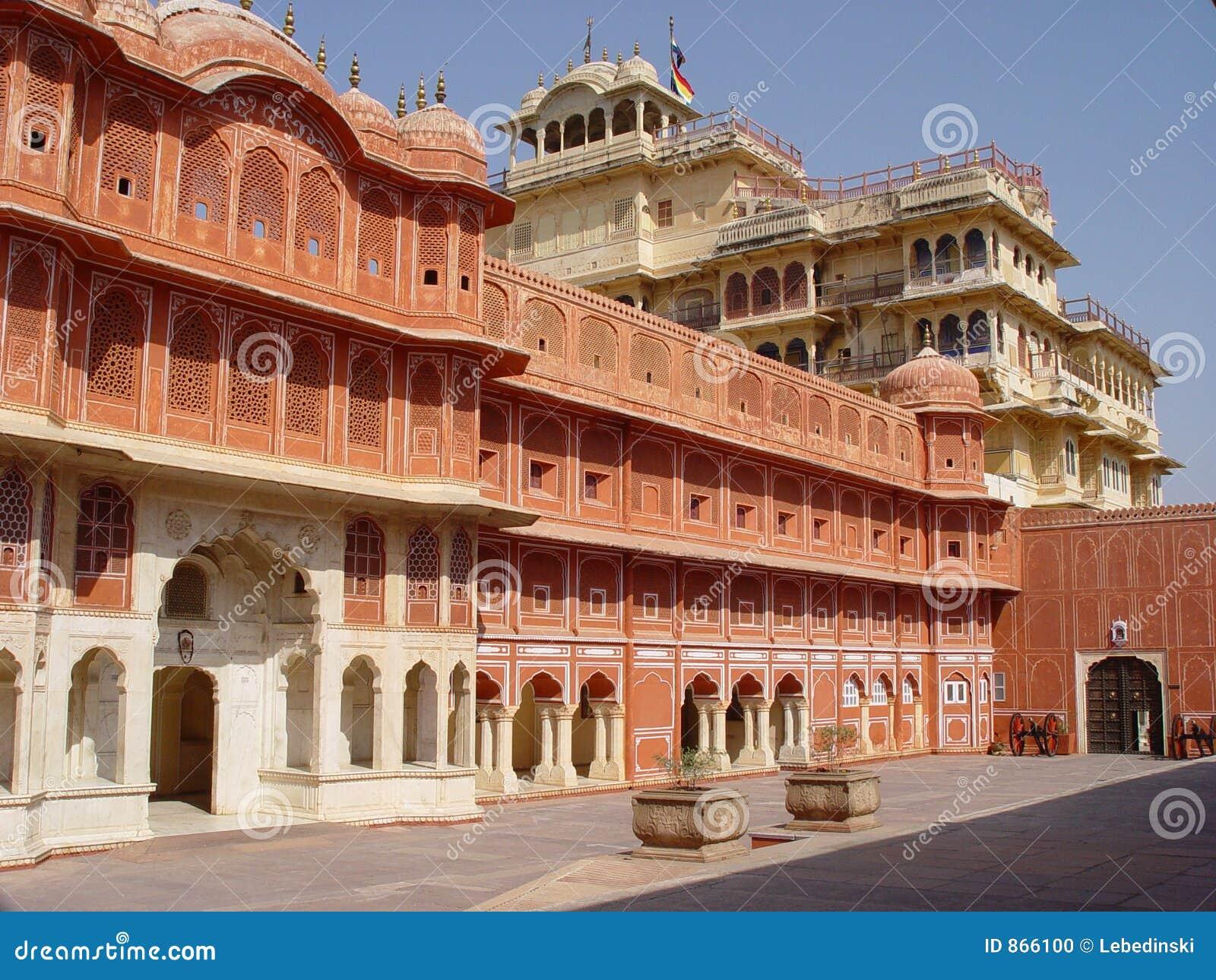 παλάτι της Ινδίας Jaipur πόλεων
