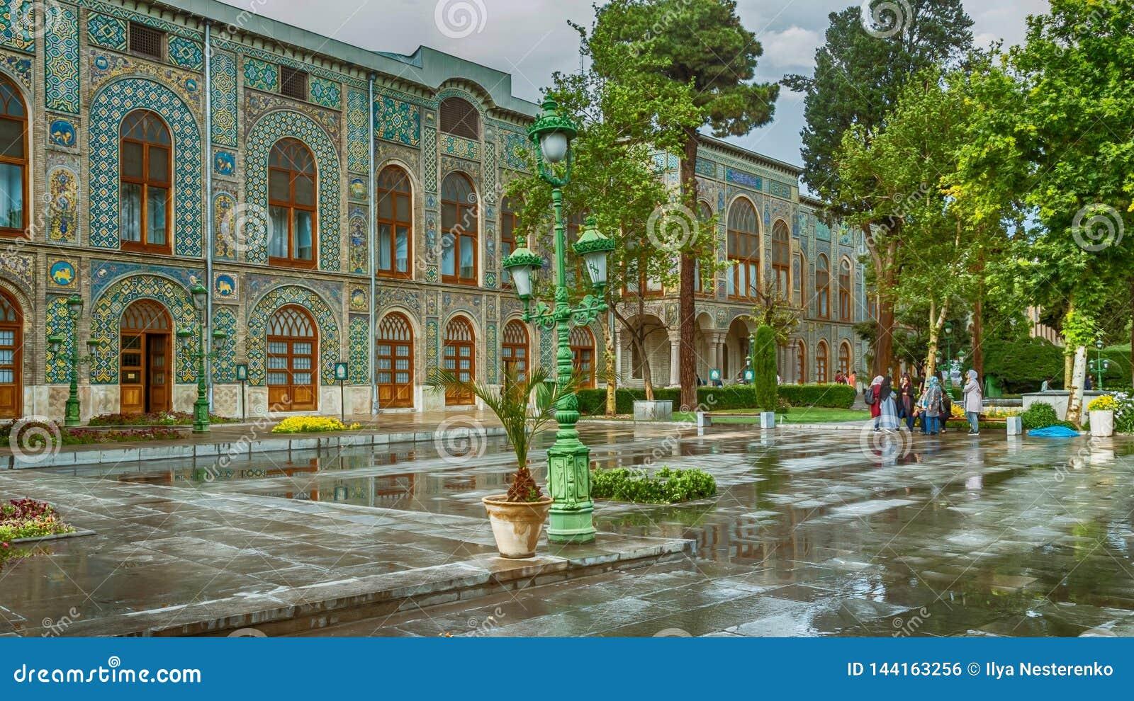 Παλάτι Golestan μια βροχερή ημέρα