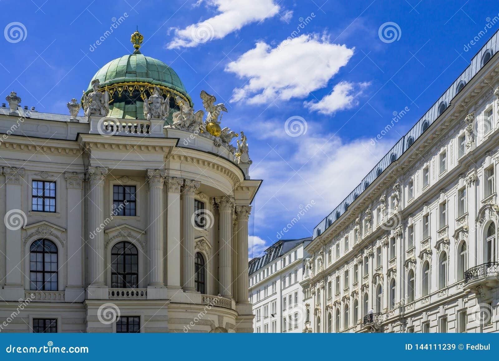 Παλάτι Hofburg σε Michaelerplatz, ορόσημο αυτοκρατοριών του Habsbourg στη Βιέννη, Αυστρία