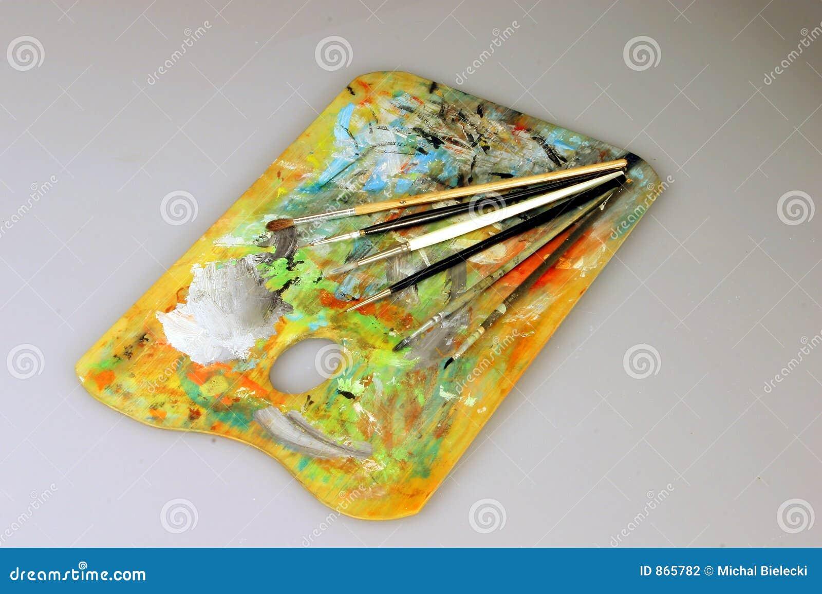 παλέτα χρωμάτων βουρτσών