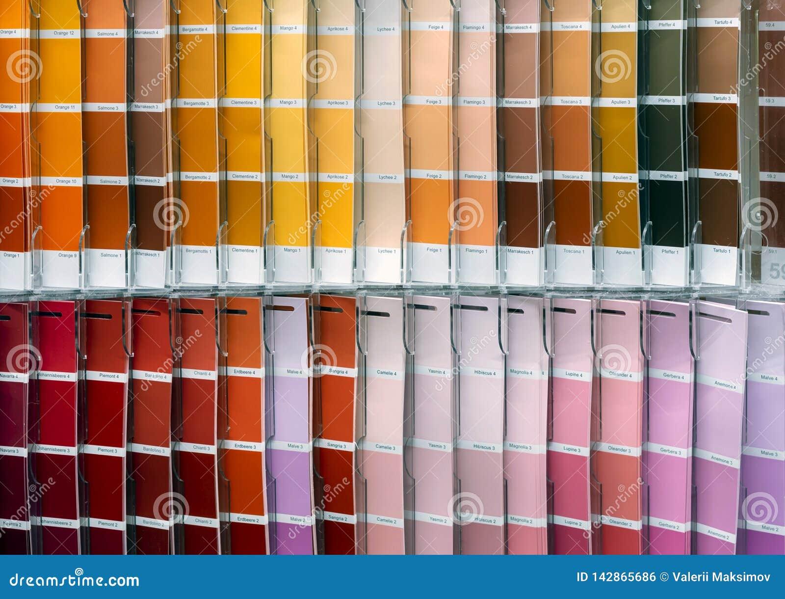 Παλέτα olor Ð ¡ για την επιλογή του υφάσματος ή του χρώματος Υπόβαθρο από swatches χρώματος