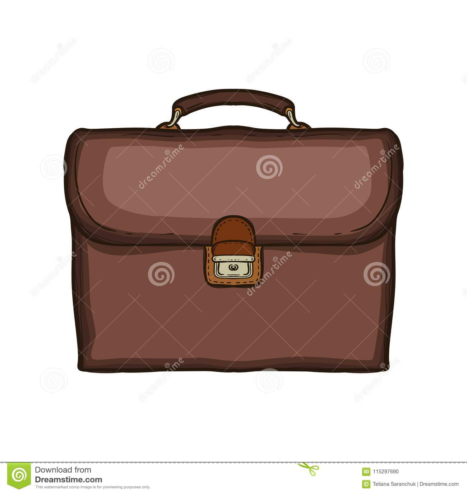 Παλαιά αναδρομική σχολική τσάντα δέρματος Σχολικό σακίδιο πλάτης