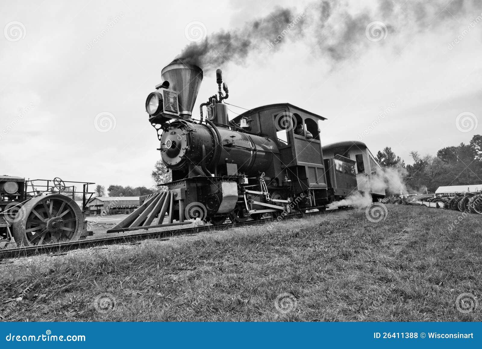 Παλαιά ατμομηχανή τραίνων χρονικού εκλεκτής ποιότητας ατμού