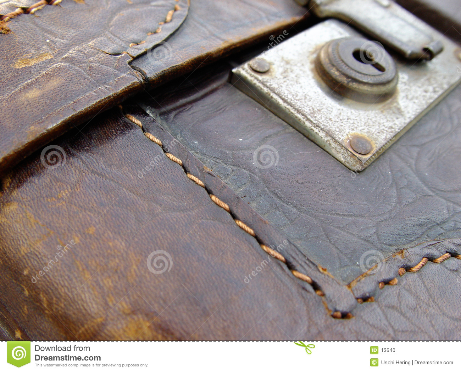 παλαιά βαλίτσα δέρματος