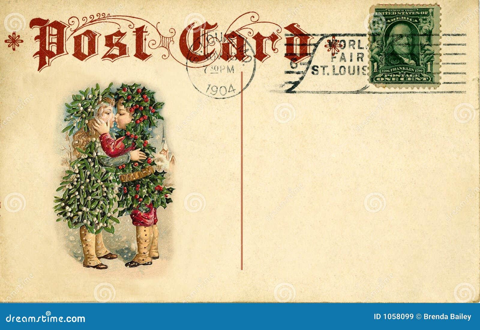 παλαιά κάρτα Χριστουγέννων