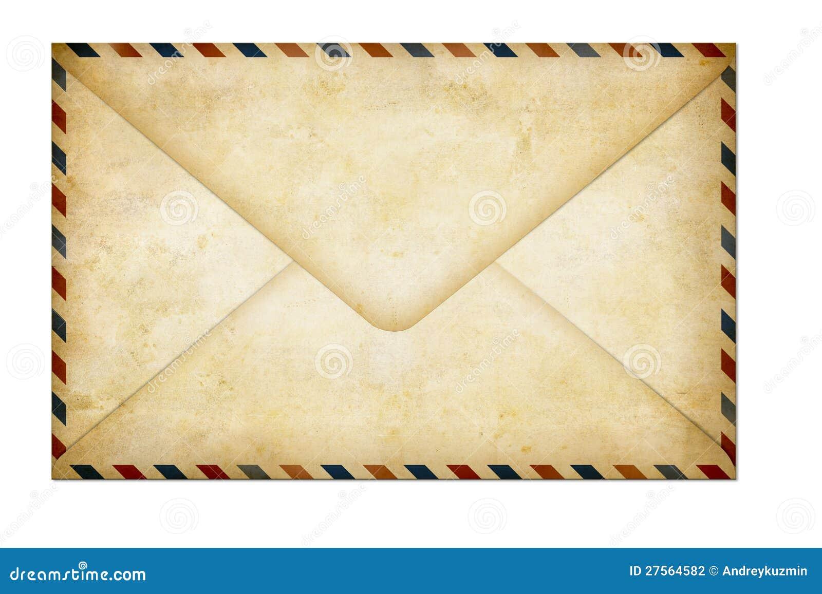 Παλαιά κλειστή μετα επιστολή αέρα εγγράφου που απομονώνεται