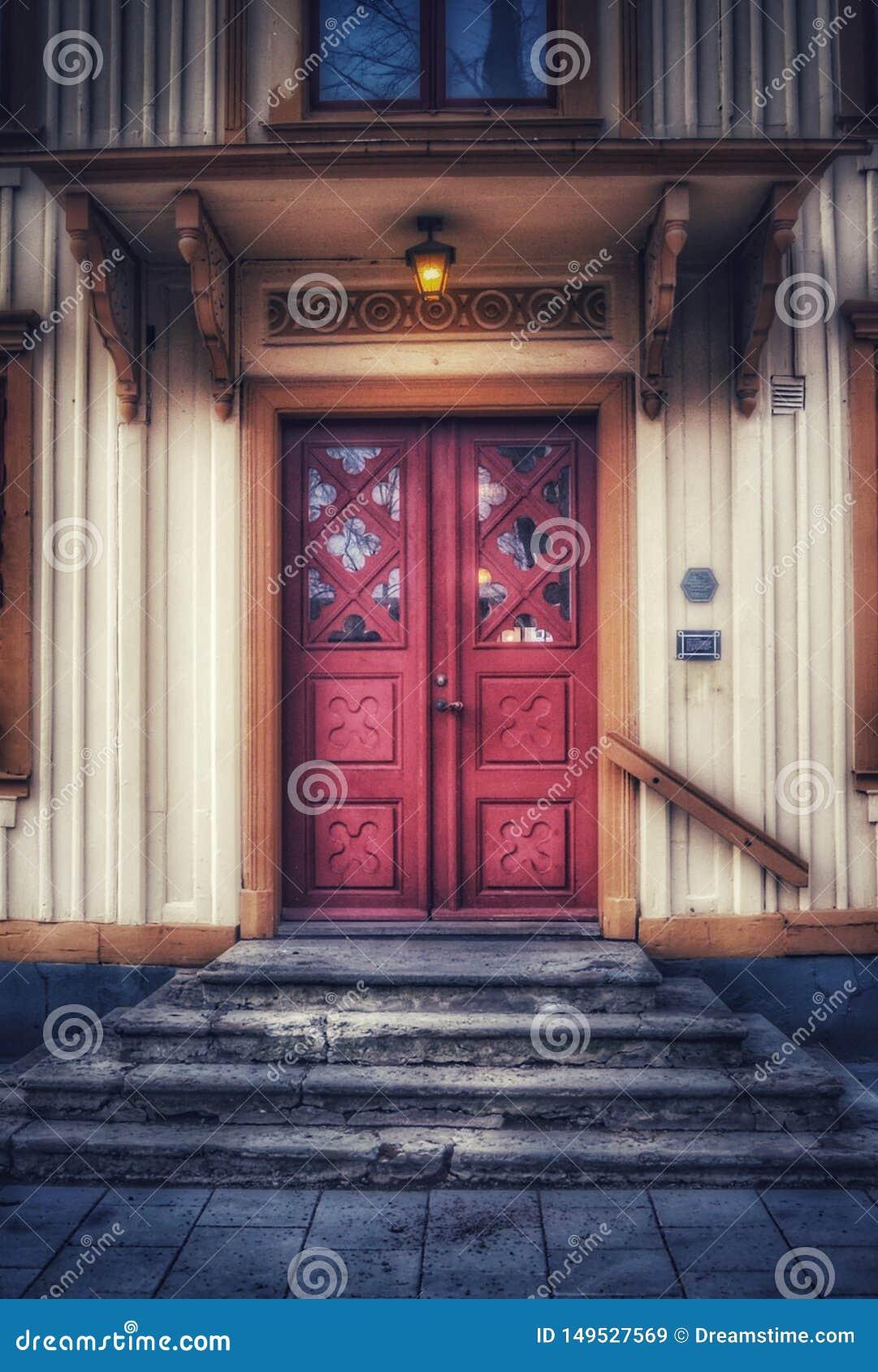 Παλαιά πόρτα αιώνα σε Ã… mÃ¥l