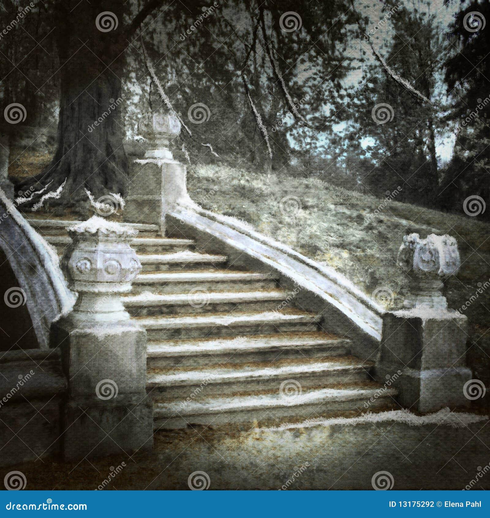 παλαιά σκαλοπάτια πάρκων
