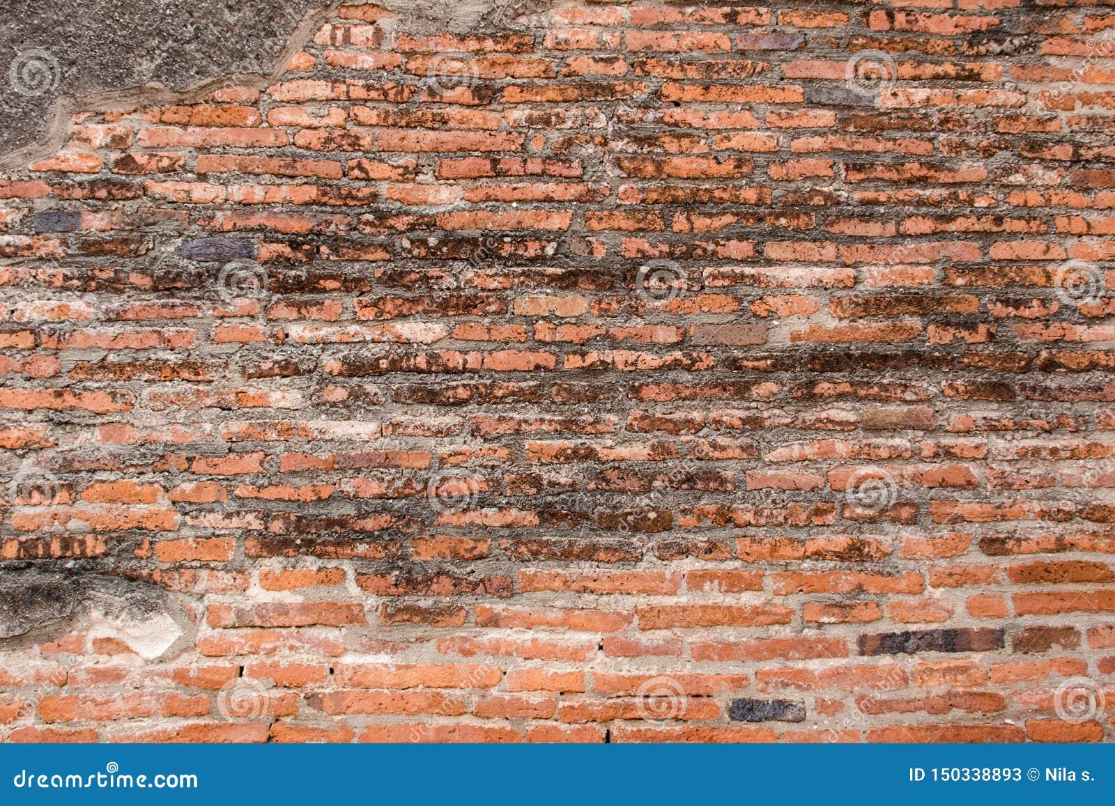 Παλαιά τούβλινη και ξηρά εικόνα υποβάθρου σύστασης τοίχων Κόκκινο πέτρινο υπόβαθρο Grunge
