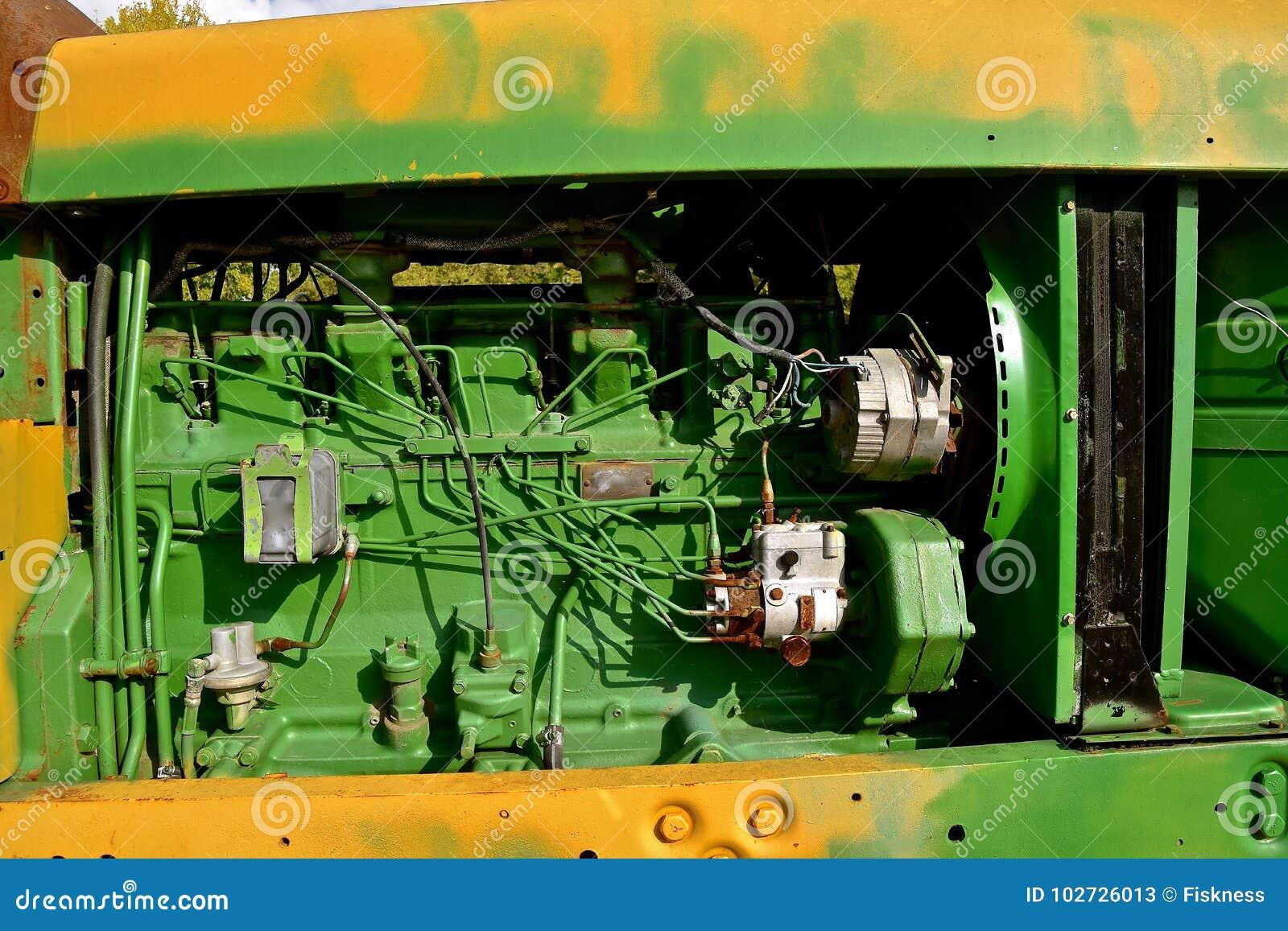 Παλαιά τρακτέρ του John Deere