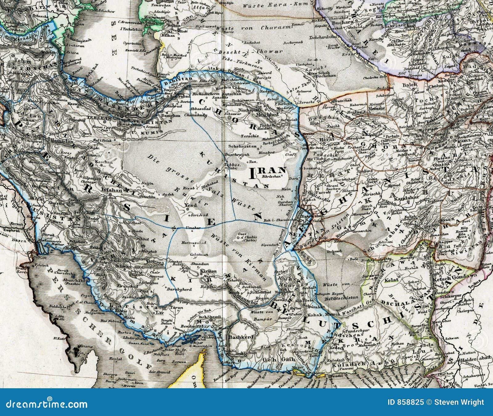παλαιός Ιράν χάρτης του Αφ&gamm