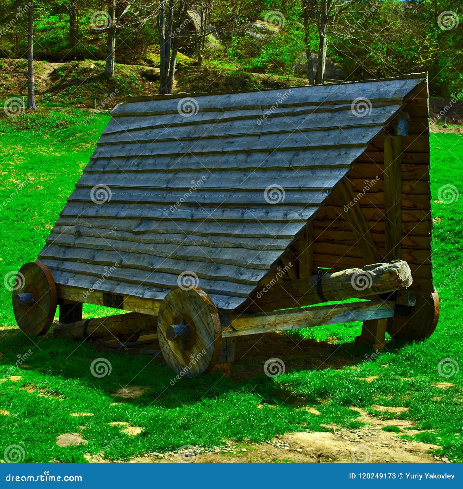 Παλαιός ξύλινος κριός ξύλου
