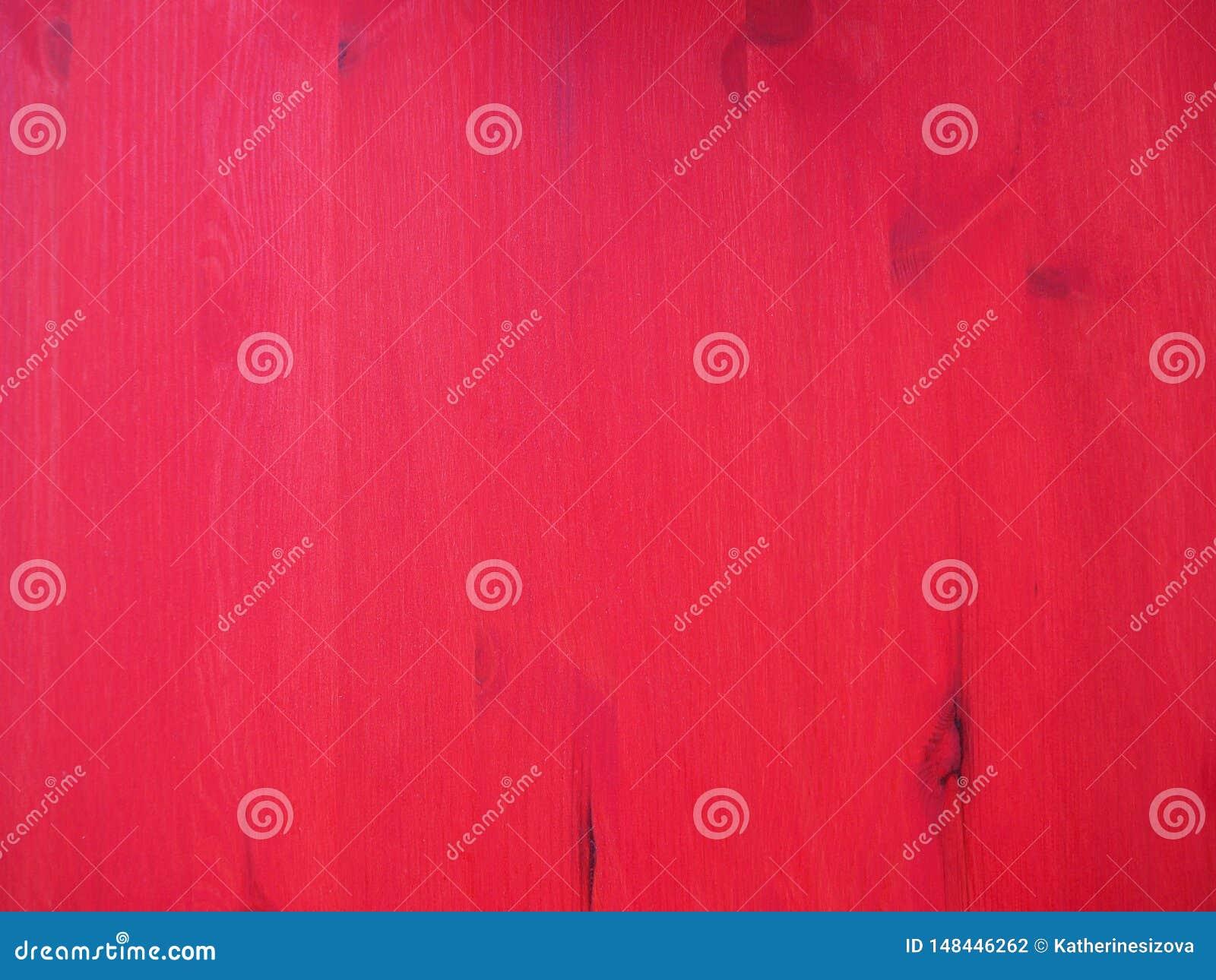 Παλαιός ξύλινος που χρωματίζεται με την κόκκινη σύσταση υποβάθρου