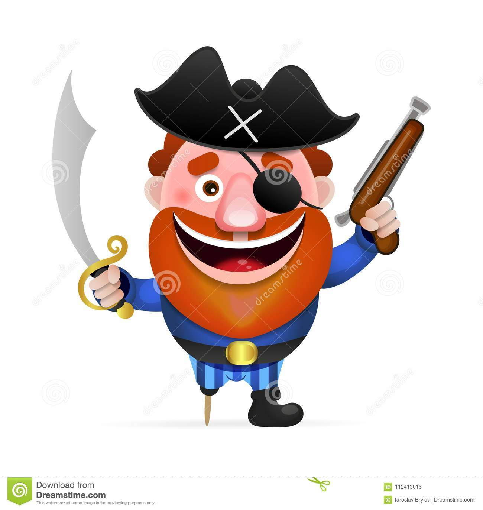 Παλαιός πειρατής με ένα ξύλινο πόδι