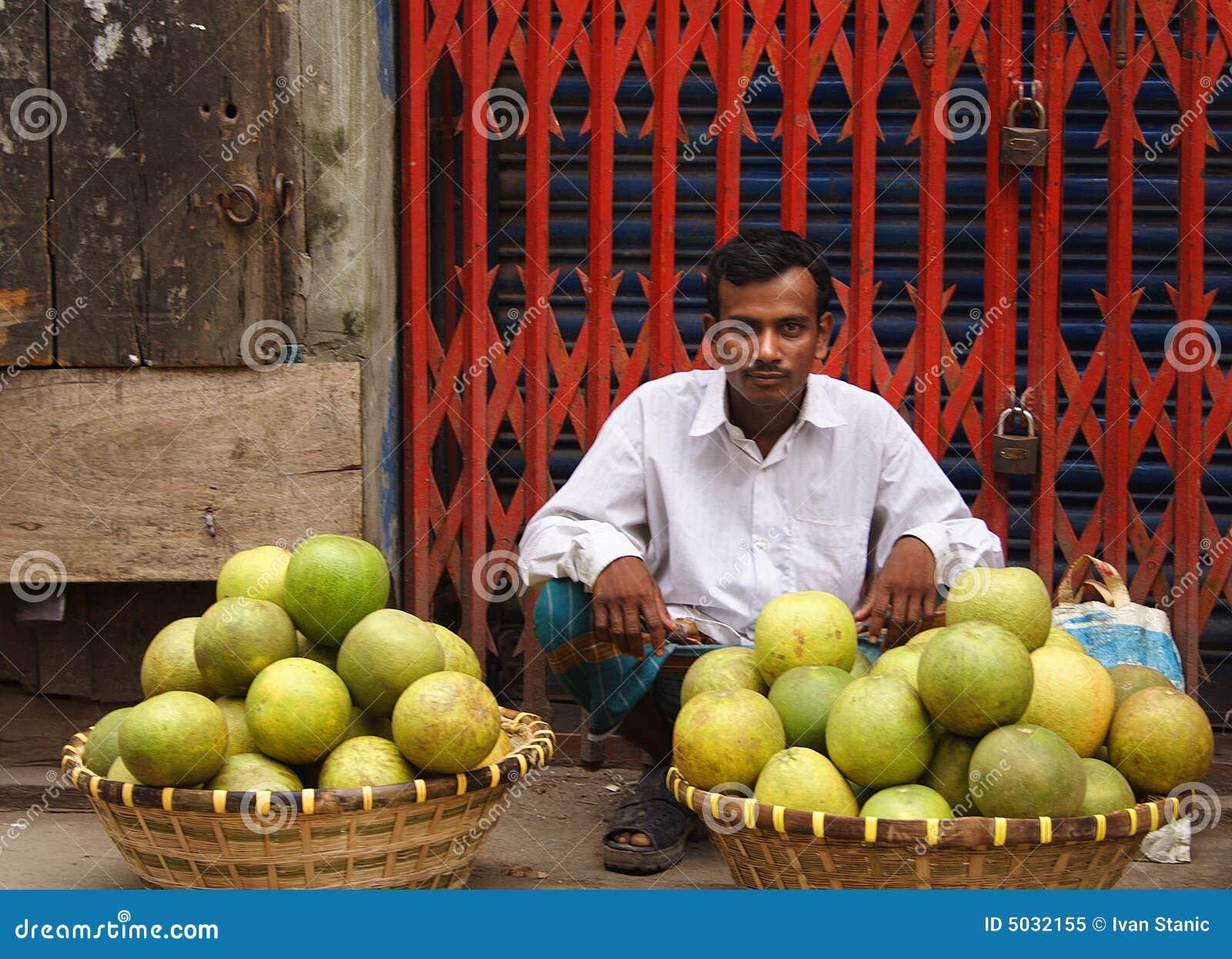 παλαιός πωλητής καρπού dhaka τ&omi