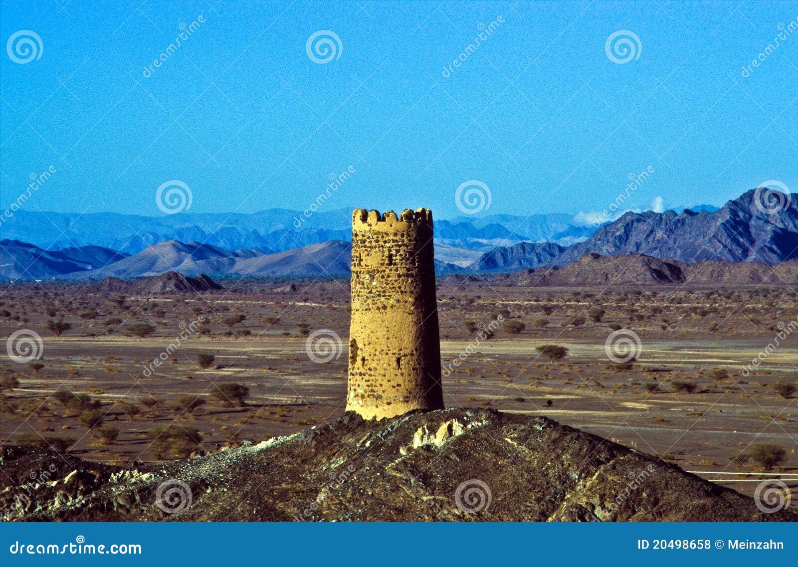 παλαιός πύργος φρουρίων Al muda