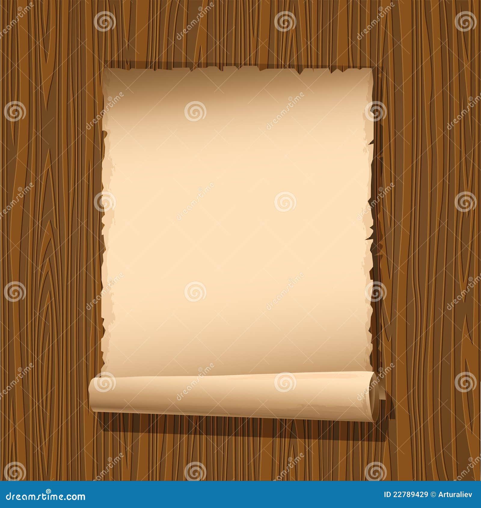 παλαιό έγγραφο ξύλινο