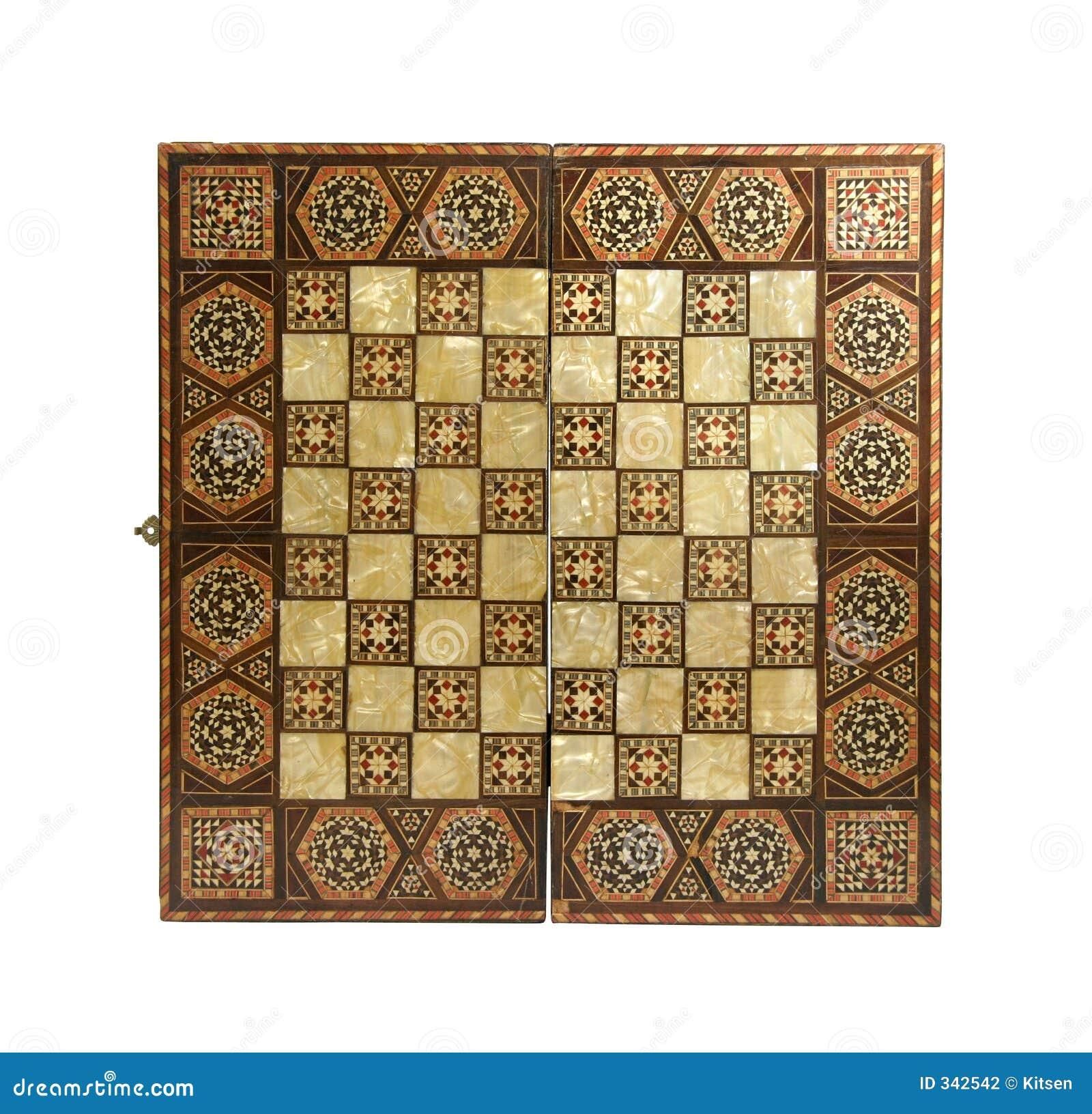 παλαιό σκάκι χαρτονιών