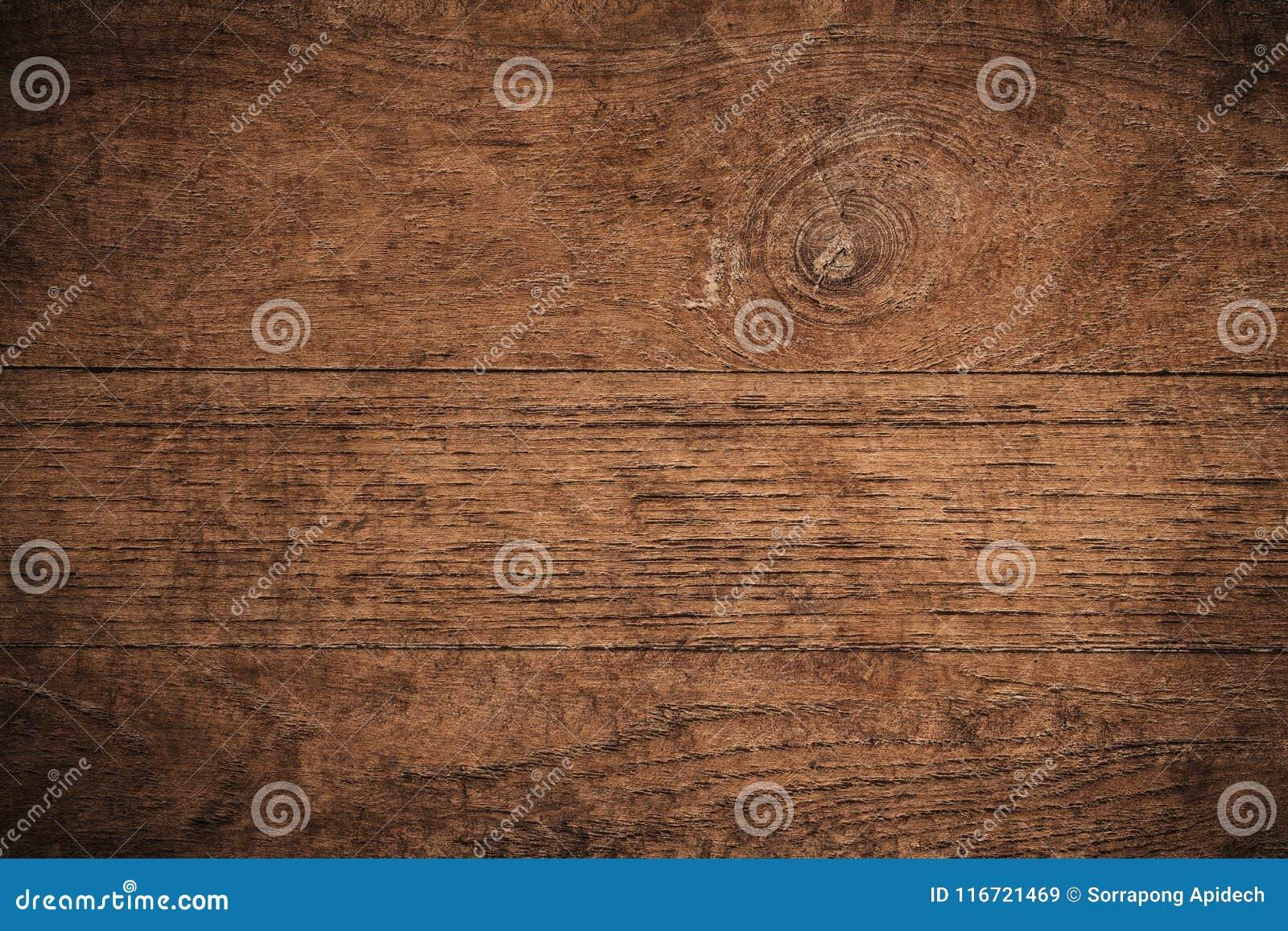 Παλαιό σκοτεινό κατασκευασμένο ξύλινο υπόβαθρο grunge, η επιφάνεια της παλαιάς καφετιάς ξύλινης σύστασης, καφετιά teak τοπ άποψης