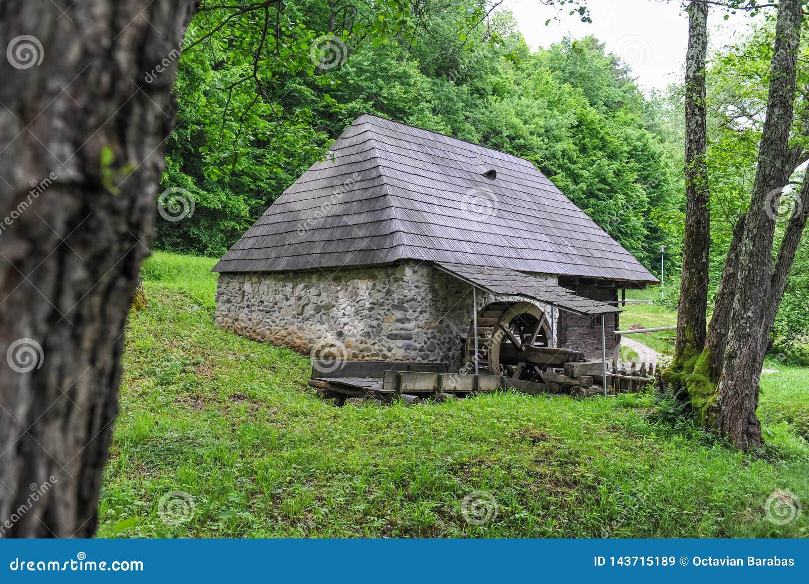 Παλαιό σπίτι μύλων στο δάσος