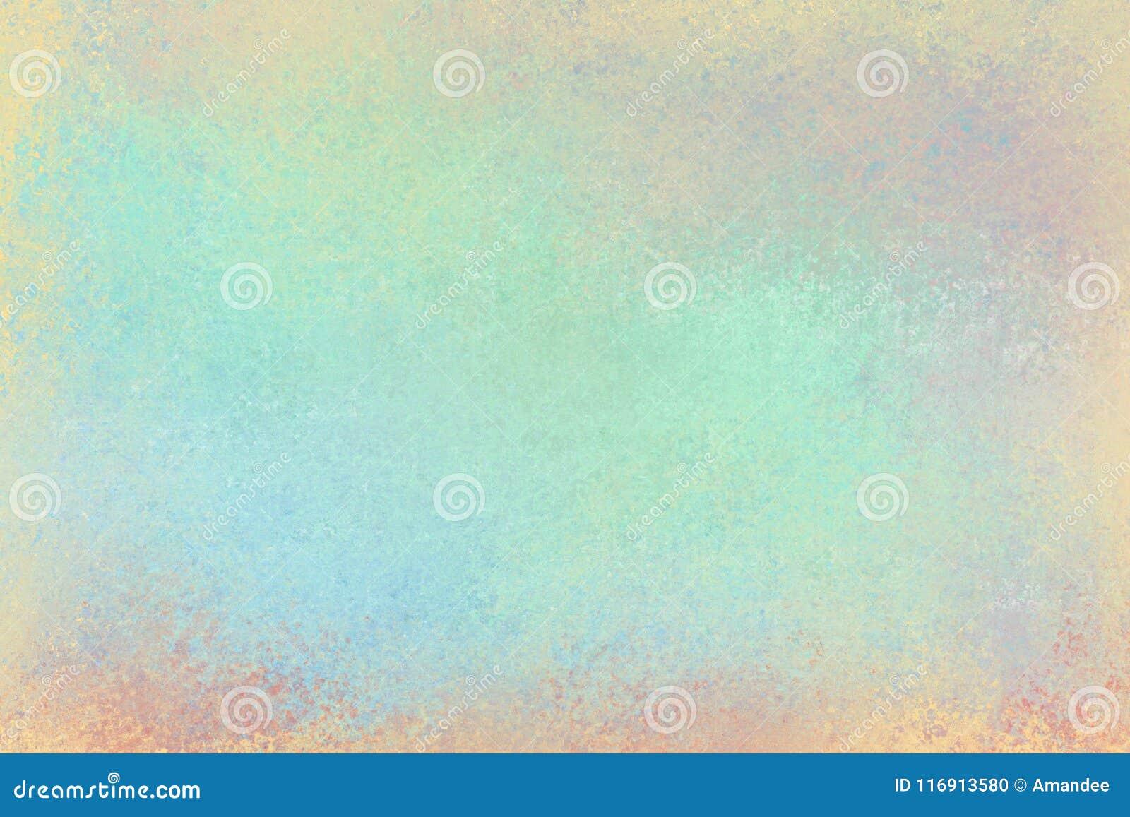 Παλαιό στενοχωρημένο σχέδιο υποβάθρου με την εξασθενισμένη grunge σύσταση στα χρώματα του γαλαζοπράσινου ρόδινου κίτρινου πορτοκα