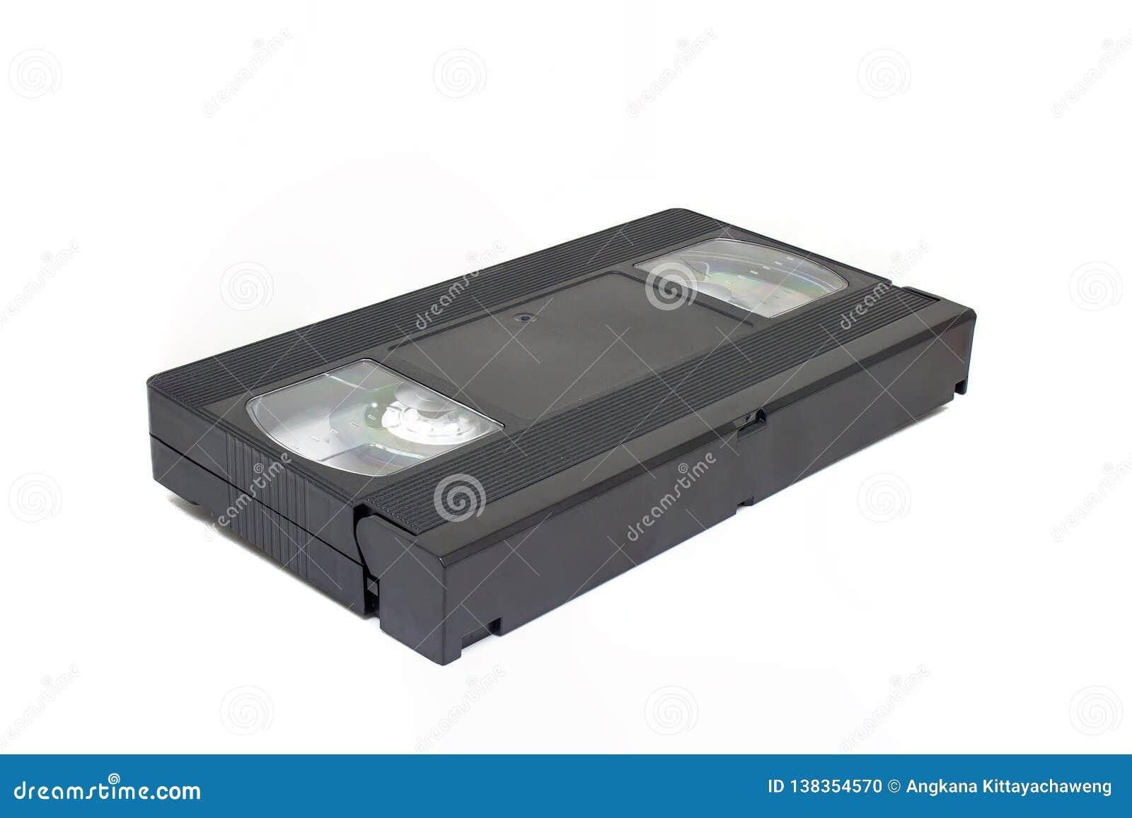 Παλαιό τηλεοπτικό εγχώριο σύστημα ή κασέτα ταινιών VHS που απομονώνεται στο άσπρο υπόβαθρο