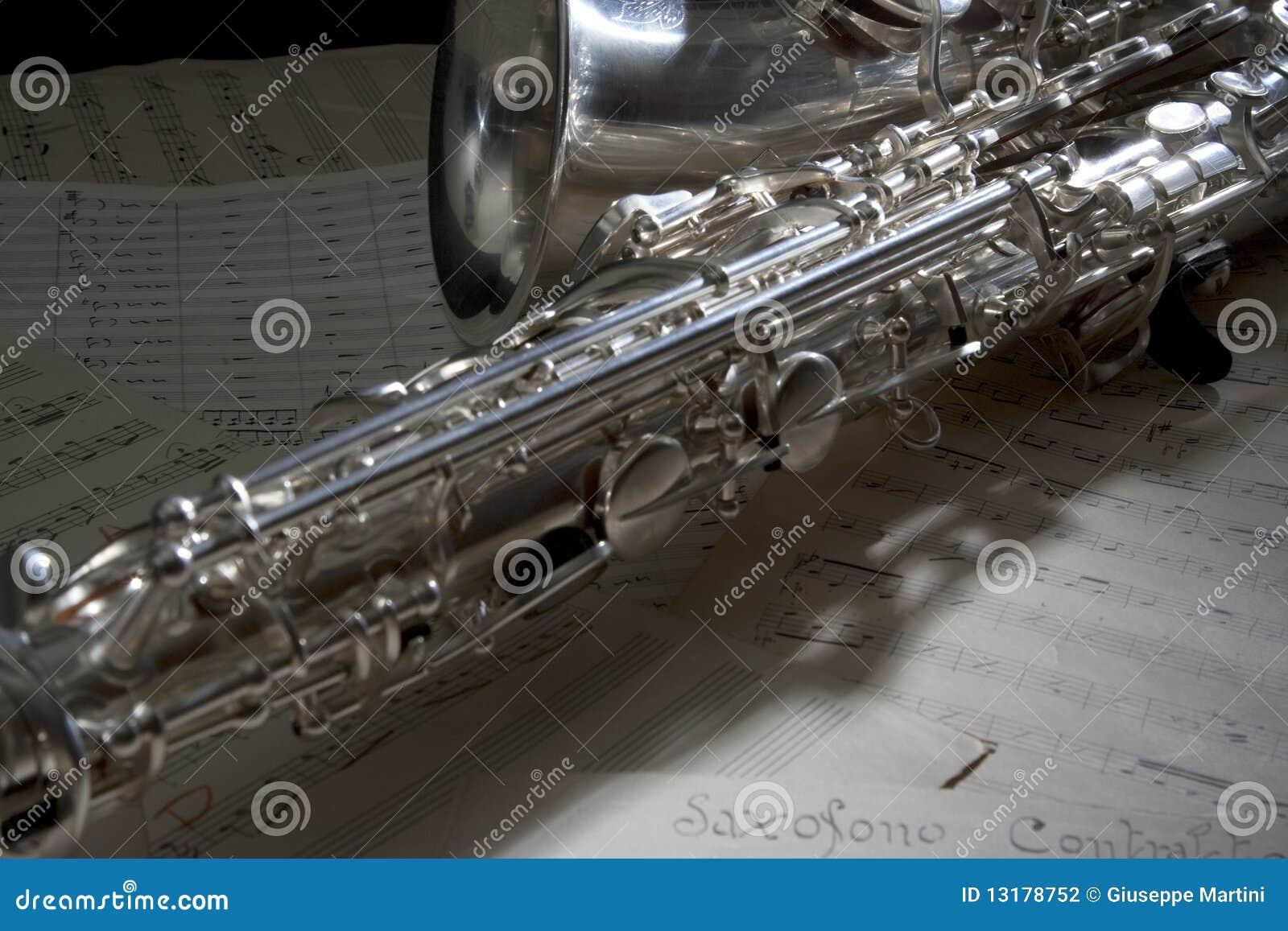 παλαιό φύλλο saxophone μουσικής
