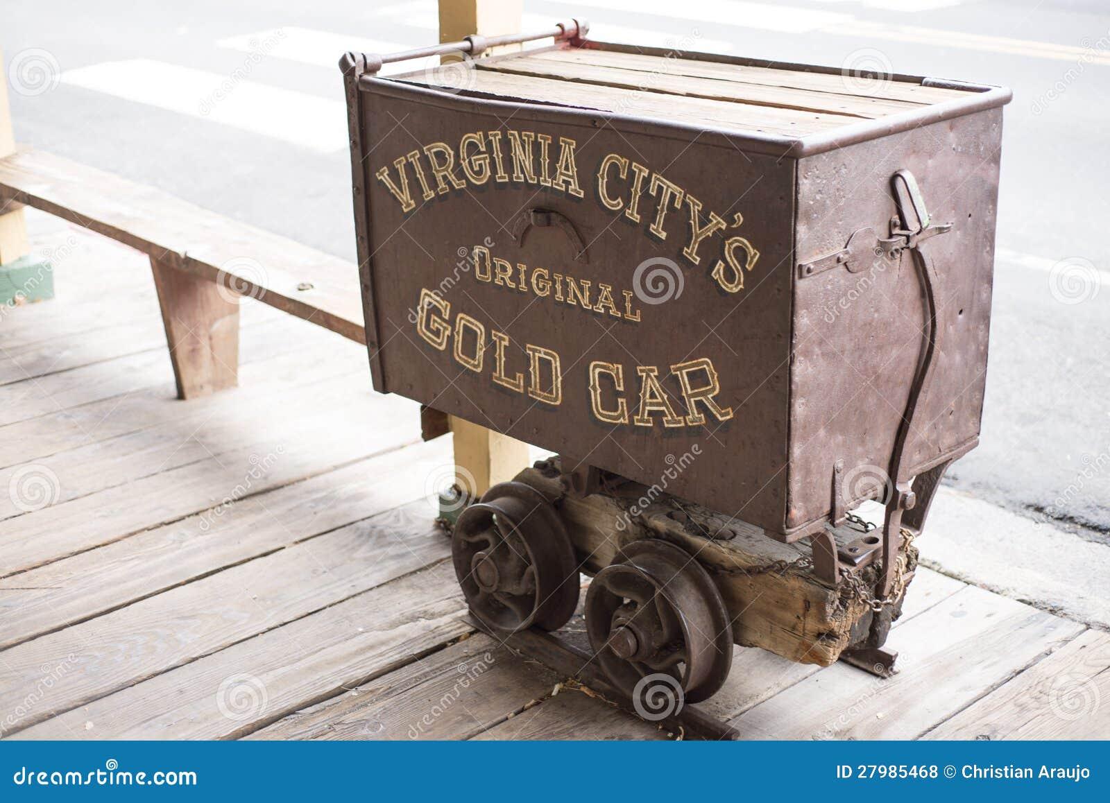 Παλαιό χρυσό βαγόνι εμπορευμάτων
