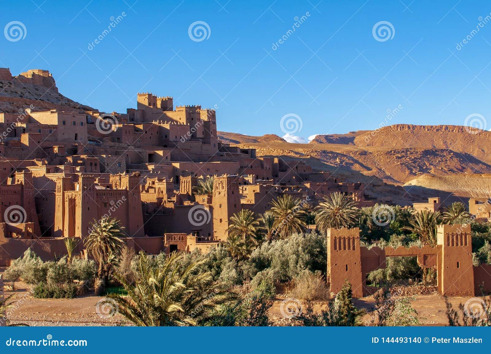 Παλαιό χωριό ενίσχυση-Ben-Haddou στο Μαρόκο