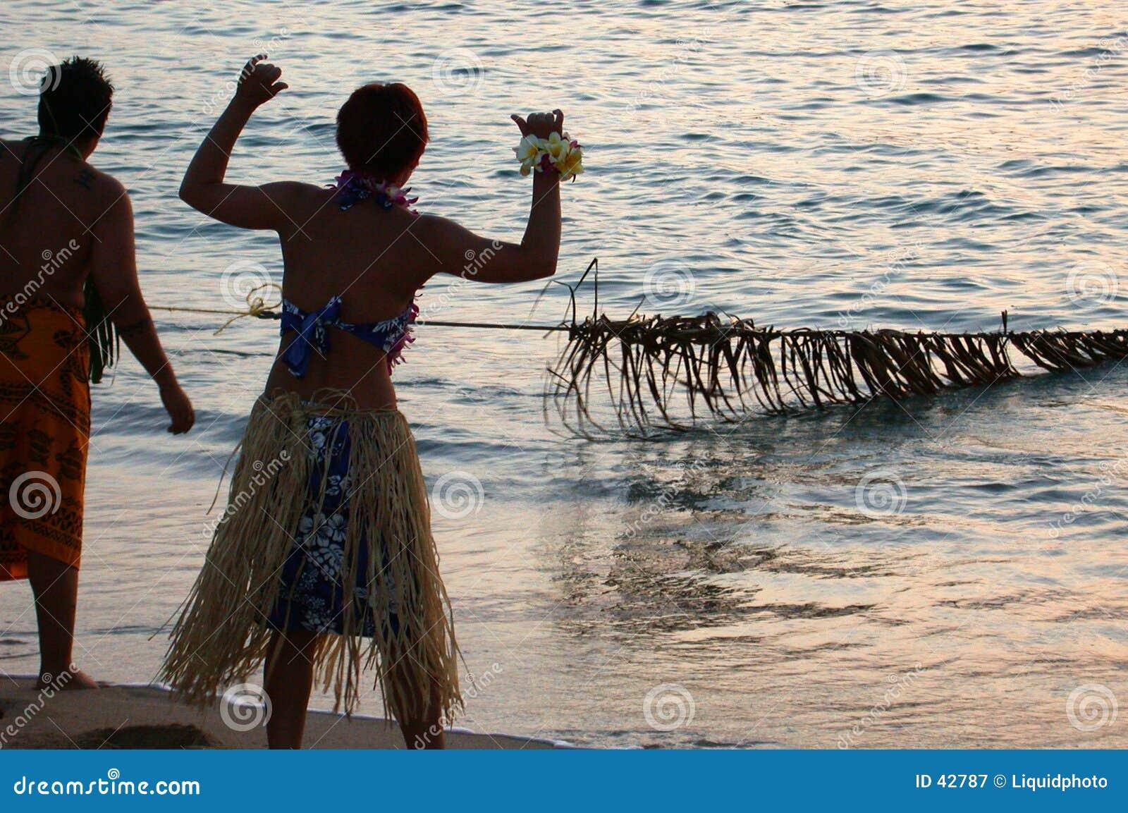 παλαιό ύφος αλιείας Χαβάη