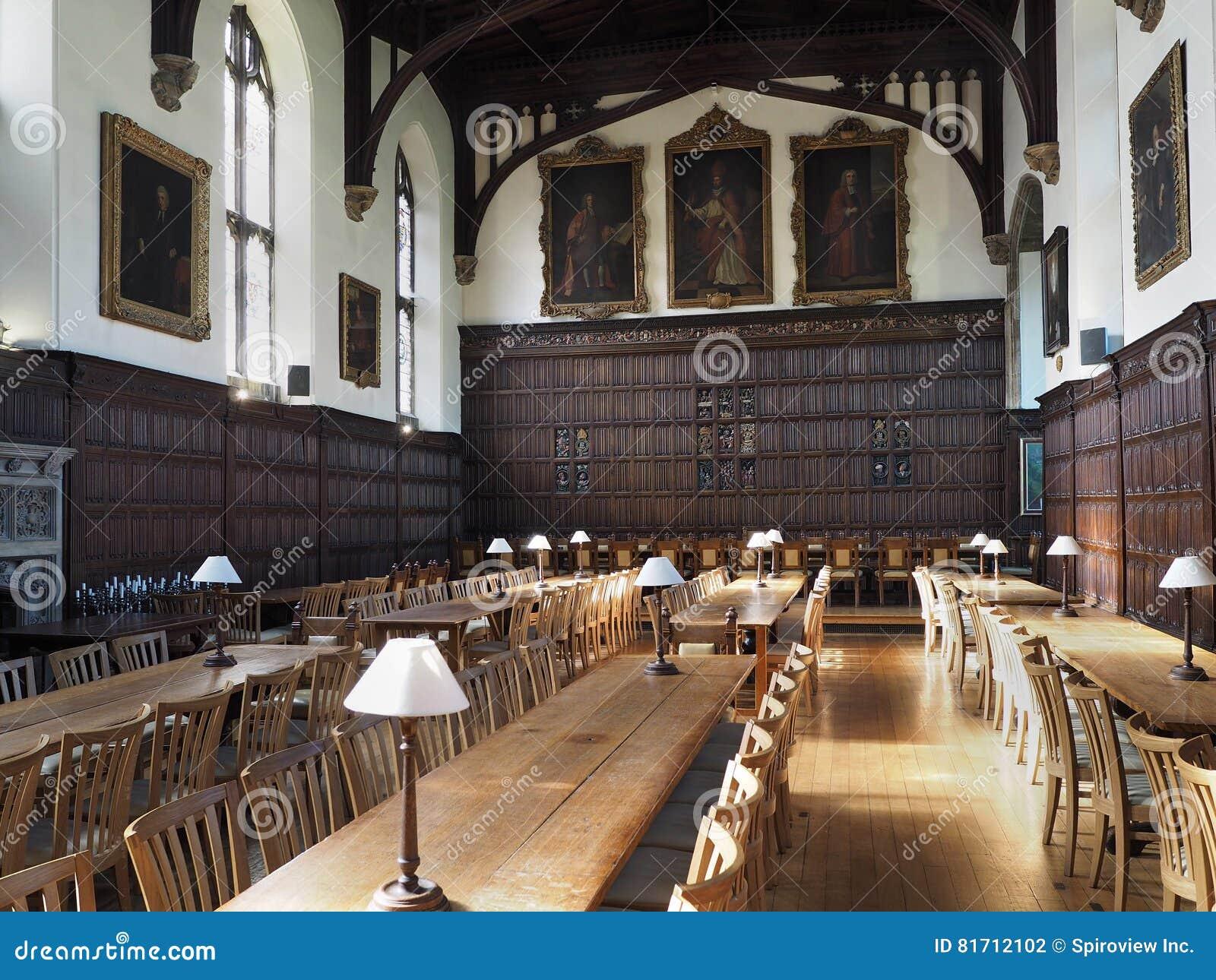 Πανεπιστήμιο της Οξφόρδης, τραπεζαρία κολλεγίου Magdalen