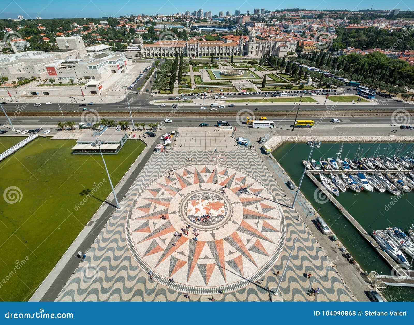 Πανοραμική άποψη από το μνημείο στις ανακαλύψεις, Λισσαβώνα, Πορτογαλία