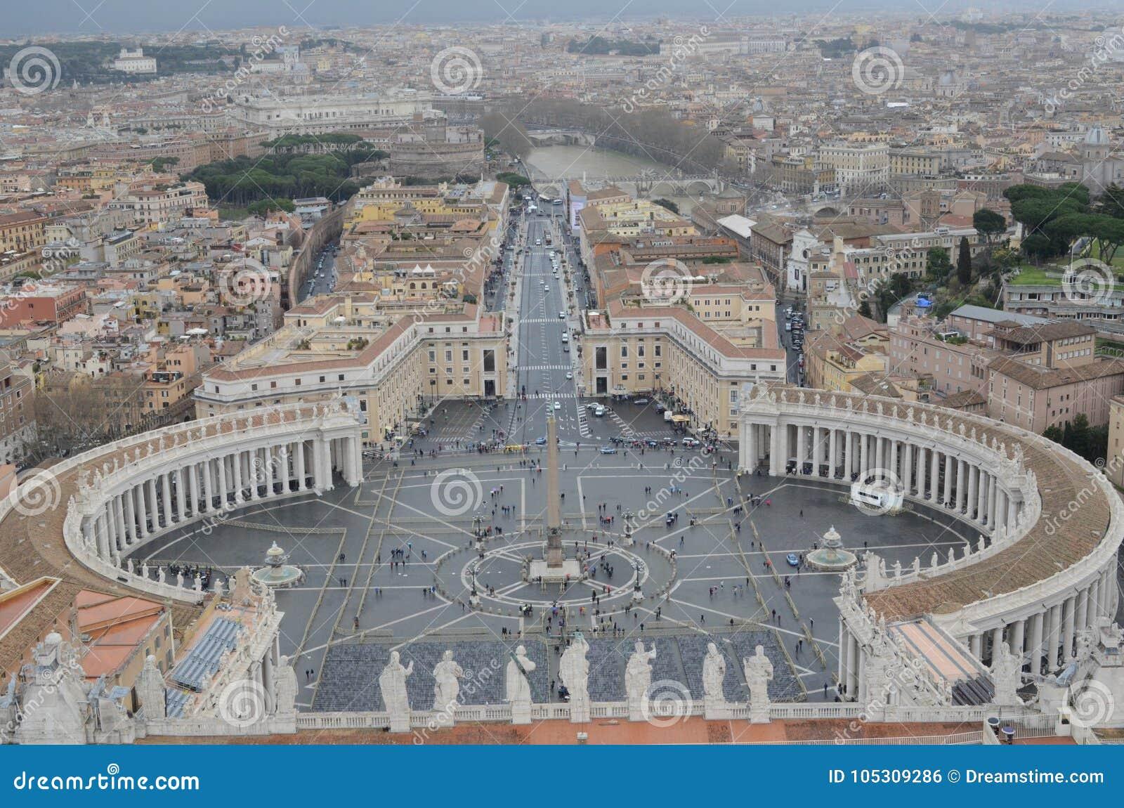 Πανοραμική άποψη της πόλης του Βατικανού
