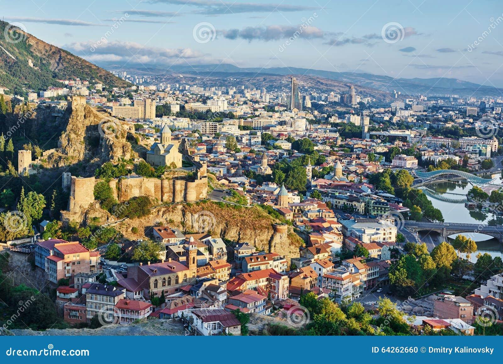 Πανοραμική άποψη του Tbilisi στη Γεωργία, Ευρώπη