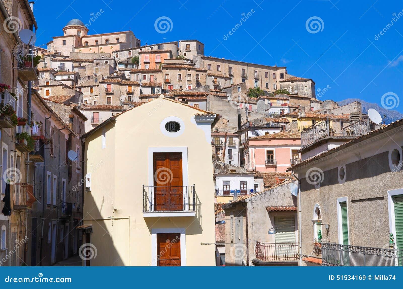 Πανοραμική άποψη Morano Calabro Καλαβρία Ιταλία