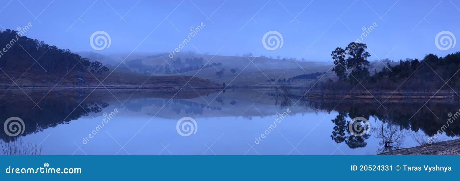πανοραμική λήψη λιμνών αυγή&si