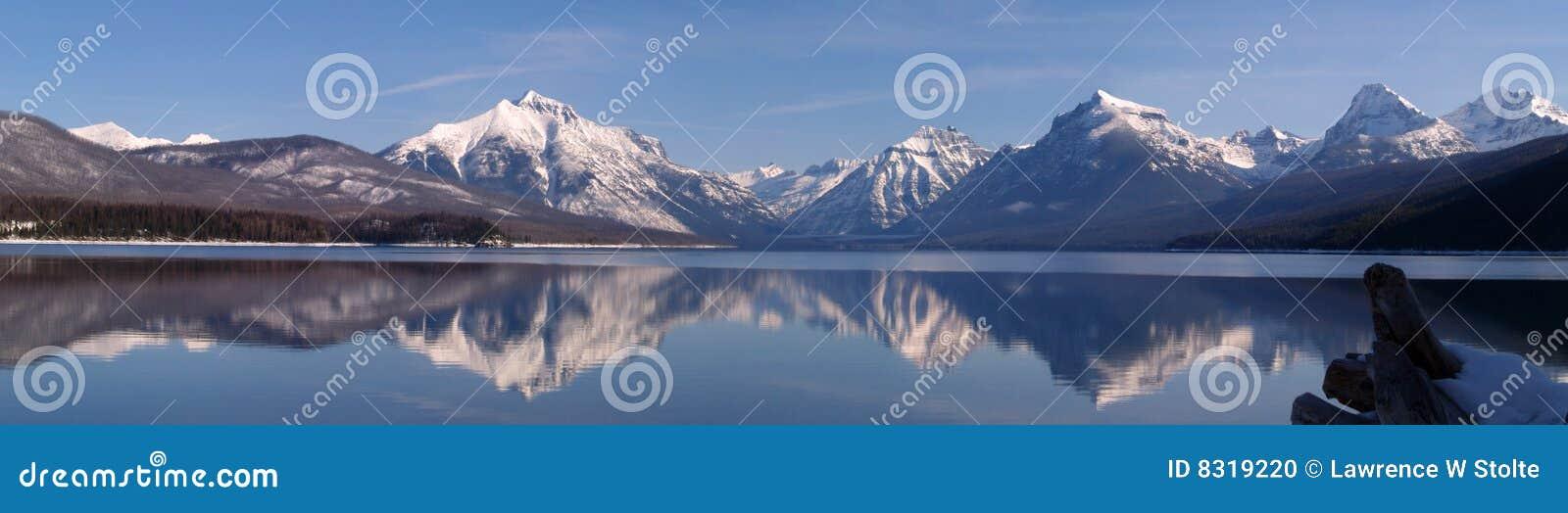 πανόραμα λιμνών Φεβρουαρί&omicr