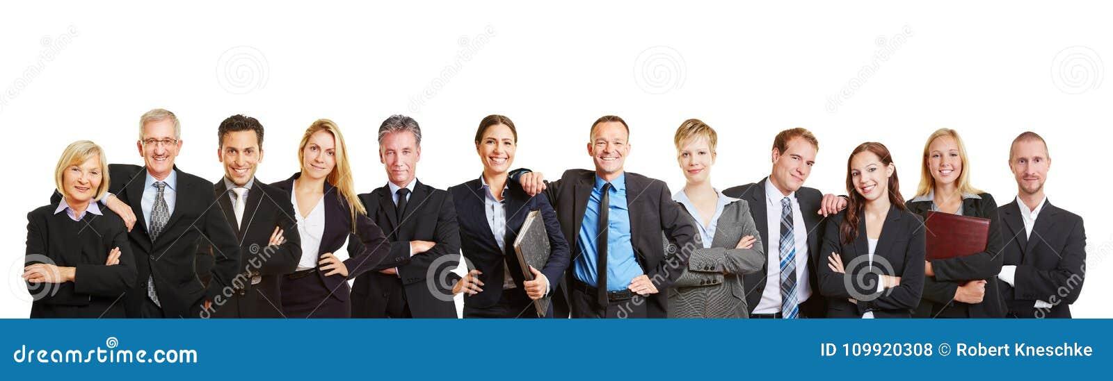 Πανόραμα με την επιχειρησιακούς ομάδα και τους επιχειρηματίες