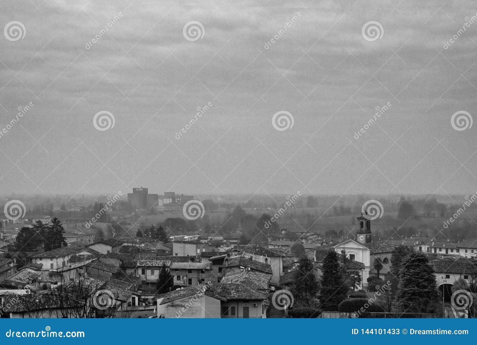 Πανόραμα μιας μικρής πόλης